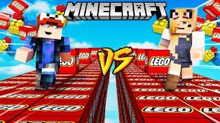 SZALONY WYŚCIG! - LEGO LUCKY BLOCKI MINECRAFT (Lego Lucky Block Race) | Vito vs Bella