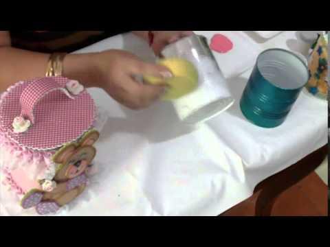 Aprender con Rossana TV: Decoración para potes de latas - YouTube
