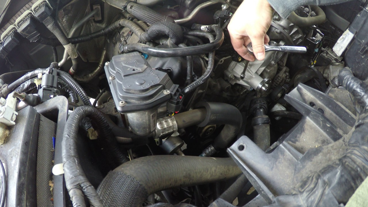 medium resolution of 2013 f150 v8 coyote water pump install replacement installation 5