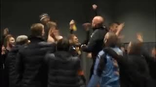 Här firar Malmö FF segern mot Besiktas