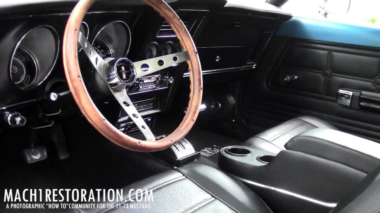1972 Mustang Fastback Full Interior Restoration Complete