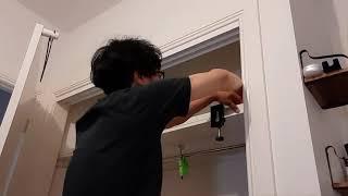 옷장보수작업( robe shelf repair)
