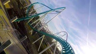 fury 325 real pov first test run carowinds 2015 world s tallest giga roller coaster