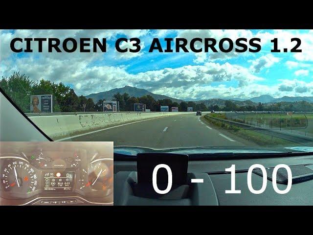 Citroen C3 Aircross 1.2,  0 - 100 - КлаксонТВ