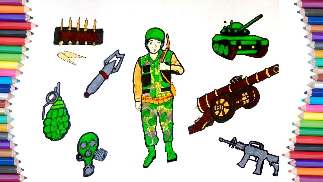 How to draw a army guy