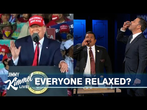 Election Eve = Trump Attacking & Everyone Else Drinking