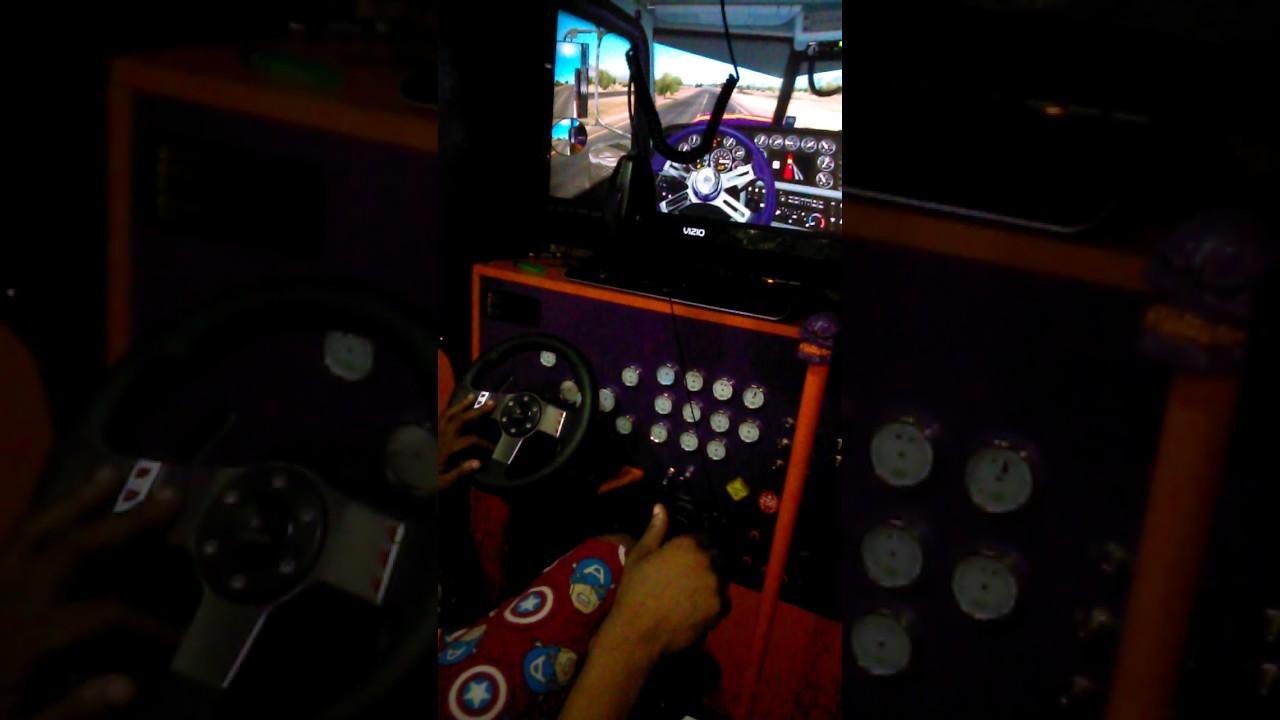 AMERICAN Truck Simulator( Homemade Cockpit n Csio shift