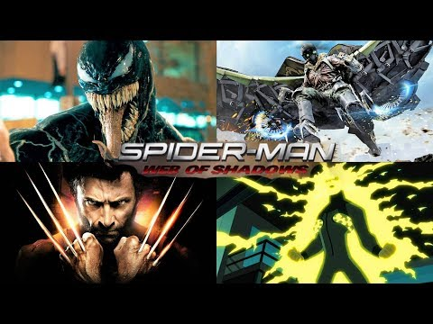 SPIDER-MAN WEB OF SHADOWS - ALL BOSS BATTLES (Xbox 360/PS3)