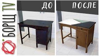 настоящая деревянная мебель времен СССР, не то что сейчас из опилок  Переделка советского стола