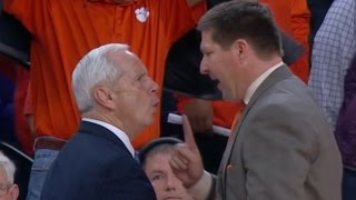 Roy Williams, Brad Brownell Have Heated Exchange After UNC OT Win   CampusInsiders