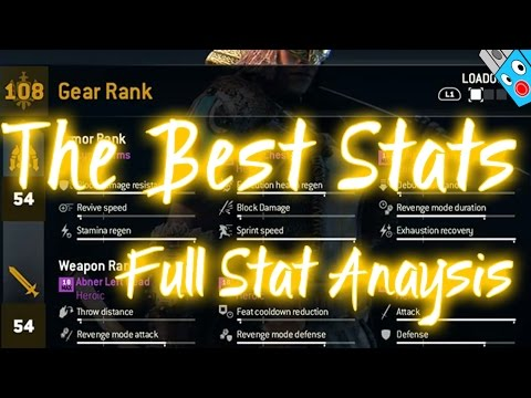 Which stats are the Best? - Full Stat & Gear Analysis and Comparison - For Honor - Ultrawide
