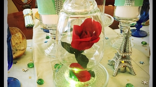 DIY Dollar Tree Beauty & the Beast Forever Rose with Light for less than $5