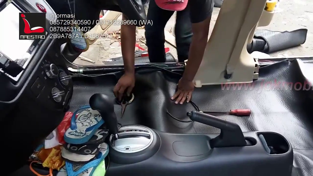 tips dan trik cara pasang karpet mobil sintetik standart