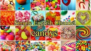 Учим английские слова , тема -сладости.Слушай и повторяй.