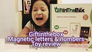 Baixar UNBOXING Educational Toy   Magnetic Letters & Numbers by GIFTINTHEBOX - Cherry Curly Sista