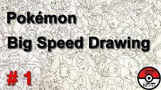Pokemon // BIG Speed Drawing // Time Lapse // #1