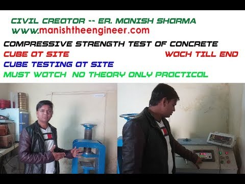 Compressive strength test of concrete cube | Cube testing