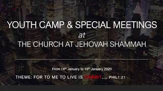 Events at Jehovah Shammah Live Stream