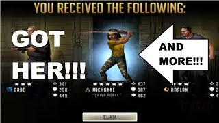 Walking Dead  Road to Survival - SHIVA FORCE MICHONNE 250 PACK OPENING - GOT HER and MORE!!!