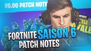 DECOUVERTE OF THE SAISON 6 FORTNITE! CAN WE BECOME INVISIBLE?! (PATCH NOTE 6.00)