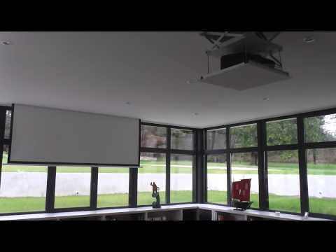 ecran int gr et ascenseur pour vid oprojecteur youtube. Black Bedroom Furniture Sets. Home Design Ideas