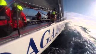 Ragamuffin 100 hitting 38 knots in 2014 Sydney Hobart Race