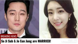 So Ji Sub and Jo Eun Jung are MARRIED!!!