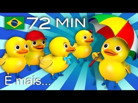 Cinco patinhos | E muitas mais Canções de Ninar | 72 min da LittleBabyBum!