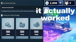 I used a Fortnite V Bucks maker and it ACTUALLY worked...