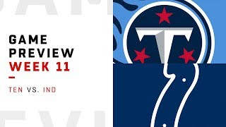 Tennessee Titans vs. Indianapolis Colts | Week 11 Game Preview | NFL Playbook