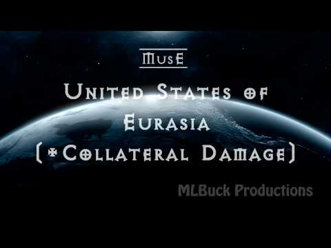Official Lyrics video - United States of Eurasia by Muse (+ Collateral Damage) FULL VERSION