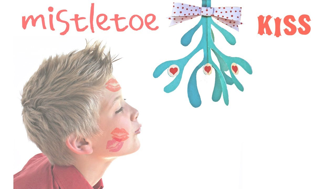 how to make a paper mistletoe free printable template to get a