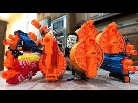 NERF WAR : WORLD'S BEST GUNS! BEST SNIPER + MACHINE GUN!