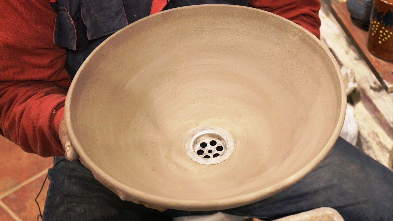 Pottery Basin Video: How To Make A Pottery Sink On Potteru0027s Wheel. #106
