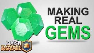 Building REAL GEMS - Clash Royale - How to get or make Gems DIY Tutorial