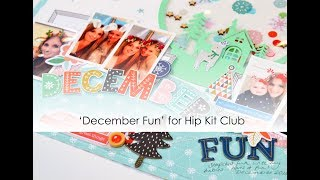 'December Fun' Layout using Cut Files by Niki Rowland
