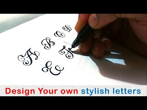 How To Write Stylish Capital Letters A Z How To Write Fancy