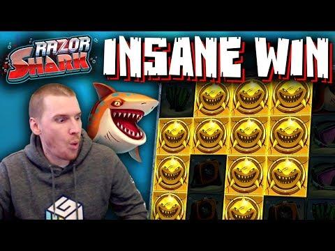 INSANE WIN On Razor Shark Slot - £10 Bet!