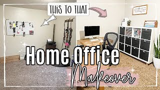 DIY HOME OFFICE MAKEOVER 2021 on a BUDGET :: RUSTIC MAKEOVER SERIES | EPISODE 2 :: TRANSFORMATION