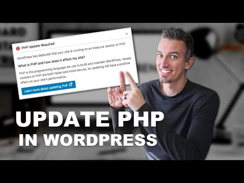 WordPress requires that your web server is running php
