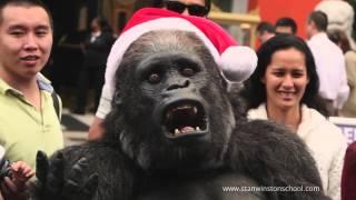 Santa Gorilla celebrates the Holidays in Hollywood!