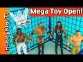 WWE Mega Toy SHAKE DOWN! Steel Cage Match Royal Rumble Open Review HobbyKidsTV