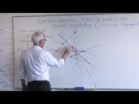Seminar: Five-fold symmetry, Schiffler points and the twisted icosahedron