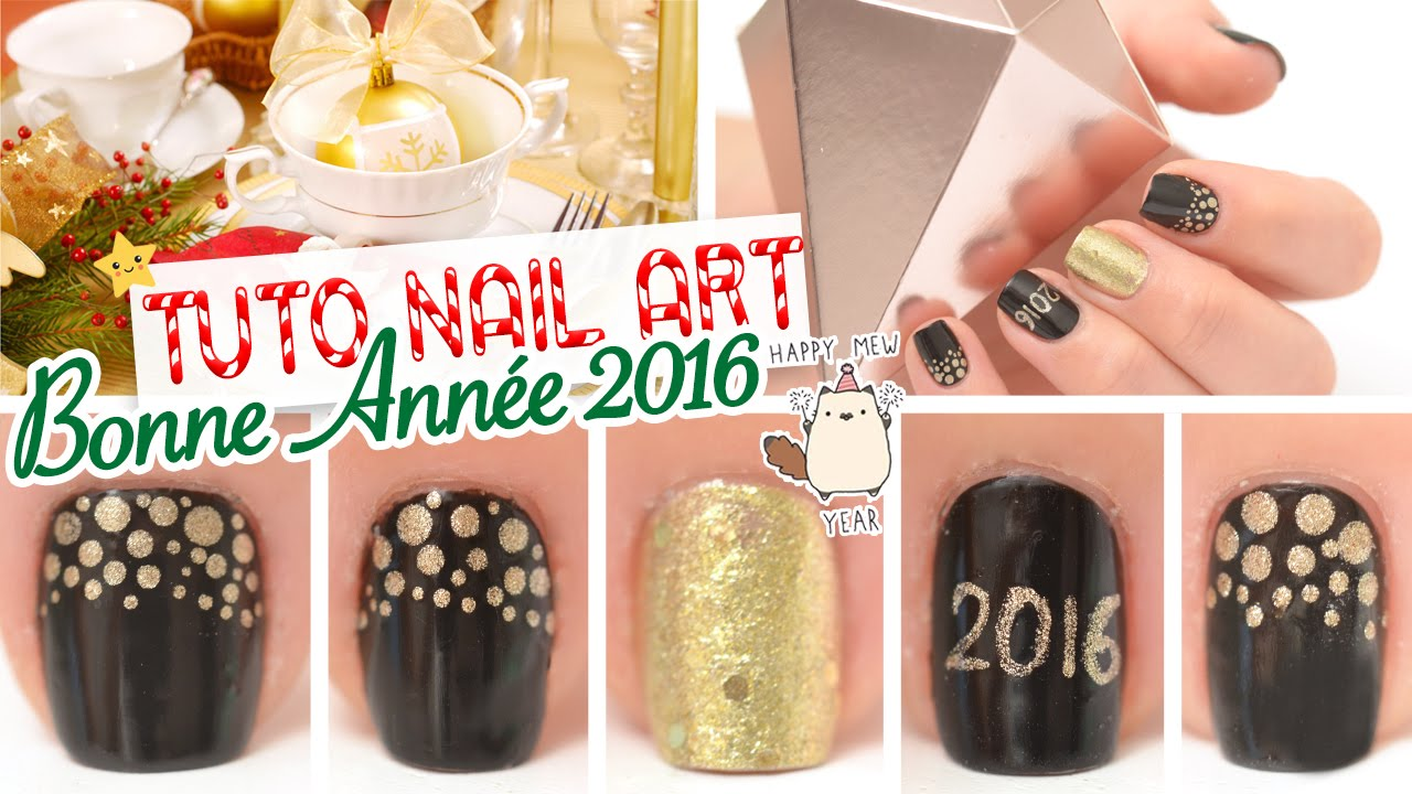Favorit Nail art facile ♡ Nouvel an 2016 - YouTube WS54