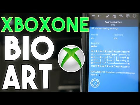 How To Get Bio Artimages In Your Bio Xbox Onexbox 360symbols In Bio