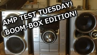 Amp Test Tuesday - Lets Test a Boom Box! - Sony MCH- GX355