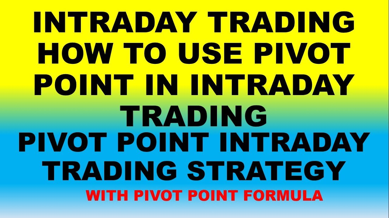 #Intraday trading|HOW TO USE PIVOT POINT|pivot point trading strategy PART  1-stockadvise