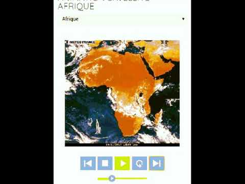 Animation satellite . Meteo africa