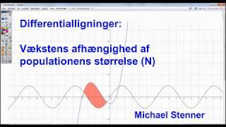 Differentialligninger - Vækstens afhængighed af populationens størrelse (N)