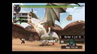 MHFU - White Fatalis in Arena (G-Rank)